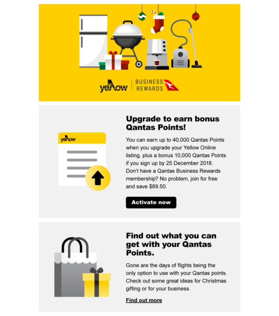 Yellow email marketing